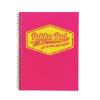 """Pukka pad Spirálfüzet, A4, kockás, 100 lap,  """"Neon"""", rózsaszín"""
