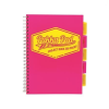 """Pukka pad Spirálfüzet, A4, kockás, 100 lap, PUKKA PAD """"Project book Neon"""", rózsaszín"""