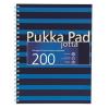 """Pukka pad Spirálfüzet, A4+, vonalas, 100 lap, PUKKA PAD, """"Navy Jotta"""", kék"""