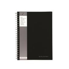 "Pukka pad Spirálfüzet, A4, vonalas, 80 lap, PUKKA PAD ""Black Range"", fekete füzet"