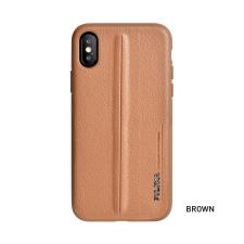 Puloka Style prémium hátlaptok Samsung G973 Galaxy S10, barna tok és táska