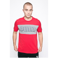 Puma - T-shirt Style Athletics Graphci - piros