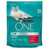 Purina One Adult Cat marhahúsban és teljes kiőrlésű gabonákban gazdag száraz macskaeledel 800 g