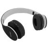 Qoltec BT wireless stereo headphone + microphone   FM   CF fekete
