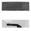 Qoltec Notebook billentyűzet Asus K50; K50AB; K50AD; K50AF; K50C fekete