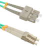 Qoltec Optic Patchcord LC/UPC - SC/UPC | Multimode | 50/125 | OM4 | Duplex | 3m kábel