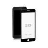 Qoltec Premium Tempered Glass Screen Protector for iPhone 7 plus | black | 3D