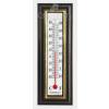 QUADRAT Hőmérő, műanyag, barna, aranyszínű keret