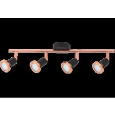 RÁBALUX Rábalux 6849 Valentine 4es spot Gu10 4x 50W m.fek/réz LED 3W világítás