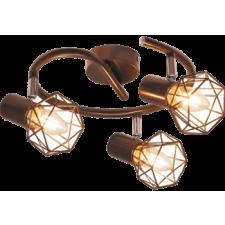 RÁBALUX Rábalux 6884 Odin, indusztriális stílusú szpot lámpa E14 3x MAX 40W metál barna világítás