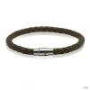RafaelaDonata karkötő valódi bőr sötétbarnageflochten Hossz: 18 cm