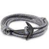 Ragyogj.hu Anchorissime - horgony karkötő - fekete- szürke kötél