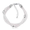 Ragyogj.hu Crystal mesh hullám charmmal- silver- Swarovski kristályos karkötő