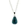 Ragyogj.hu Csepp alakú természetes kőből készült nyaklánc - fekete-türkiz