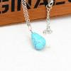Ragyogj.hu Csepp alakú természetes kőből készült nyaklánc - világoskék