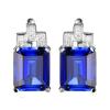 Ragyogj.hu Emerald fülbevaló - négyzetes - ezüst -kék