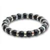 Ragyogj.hu Ezüstös csillogás - természetes kőből fűzött matt fekete ásványkarkötő kristályrondellákkal - színjátszó fehér