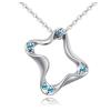 Ragyogj.hu Geometric - Swarovski kristályos nyaklánc - kék