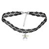 Ragyogj.hu Gótikus csipkés nyaklánc- csillag alakú Swarovski kristállyal- fehér