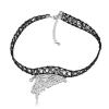 Ragyogj.hu Gótikus csipkés nyaklánc- pillangó szárny alakú medállal- fehér