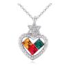 Ragyogj.hu Heart to heart - színes- Swarovski kristályos - Nyaklánc