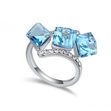 Ragyogj.hu Kockák-kék-Swarovski kristályos - Gyűrű gyűrű