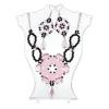 Ragyogj.hu 'Mumbles' CANDY gyöngyfűzött ékszerszett - rózsaszín alapszínnel - fekete