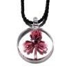 Ragyogj.hu Muránói üveg medál, lóhere motívummal - lila