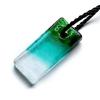 Ragyogj.hu Muránói üveg medál, négyzet alakú - zöld