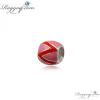 Ragyogj.hu Pandor@ Style ezüst medál -piros-rózsaszín