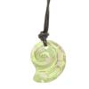 """Ragyogj.hu """"Sea Snail pendant"""" -Swarovski medál bőrkötélen- Luminous Green"""