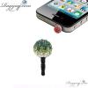 Ragyogj.hu Shamballa színátmenetes telefonékszer-zöld-fehér