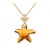 Ragyogj.hu Star- Swarovski kristályos ezüst nyaklánc-borostyán