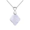 Ragyogj.hu Sugi - Swarovski kristályos nyaklánc - csillámos fehér
