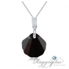 Ragyogj.hu - Swarovski Kagyló-fekete- Swarovski kristályos nyaklánc