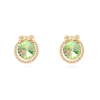 Ragyogj.hu - Swarovski Kristály ajándékban-zöld- Swarovski kristályos fülbevaló