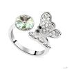 Ragyogj.hu - Swarovski Lepketánc- zöld- Swarovski kristályos-gyűrű