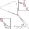 Ragyogj.hu - Swarovski SOFIA- ezüst nyakék - rózsaszín