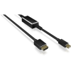 RaidSonic Displayport mini 1.2 -> HDMI 2.0 M/M video jelkábel 3m fekete aktív