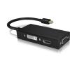 RaidSonic Displayport mini 1.2 -> HDMI DVI-D VGA M/F adapter 0.15m fekete
