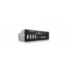 """RaidSonic IcyBox IB-863A-B 5.25"""" Card Reader with multiport Frontpanel hűtés"""