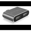 RaidSonic IcyBox USB Type-C - 2xUSB 2.0 Type-A átalakító IB-HUB1201-C