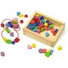 RaKonrad Fa threading gyöngyök egy dobozban