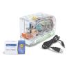"""RAPESCO Tűzőgép, 26/6, 15 lap, műanyag, elemes, USB töltővel, RAPESCO """"626EL"""", átlátszó"""