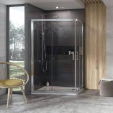Ravak 10° 10AP4 120x90 cm zuhanykabin, fehér + Transparent 0ZVG70100Z1 kád, zuhanykabin