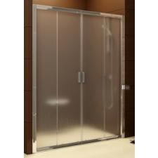 Ravak Blix négyrészes zuhanyajtó BLDP4-140 krómhatású+Grafit** kád, zuhanykabin