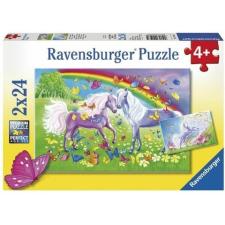 Ravensburger : Lovak és szivárvány 2 x 24 darabos puzzle puzzle, kirakós