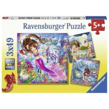 Ravensburger : Sellők 3 x 49 darabos puzzle puzzle, kirakós