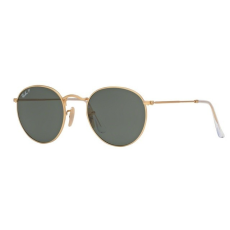 Ray-Ban RB3447 112/58 ROUND METAL MATTE GOLD POLAR GREEN napszemüveg