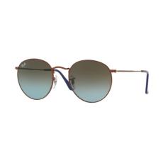 Ray-Ban RB3447 900396 ROUND METAL SHINY DARK BRONZE BLUE GRADIENT BROWN napszemüveg
